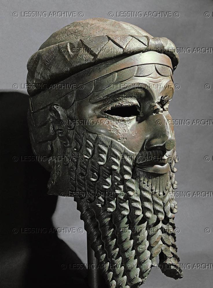 Male head with beard from Niniveh Mesopotamia