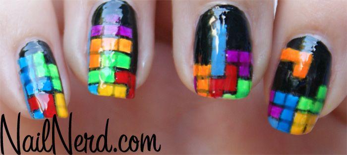 TETRIS NAILS! #nails
