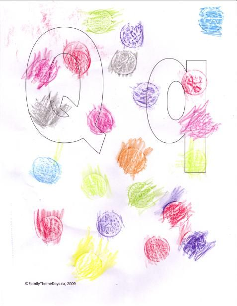 Q is for quarters (crayon rubbings).