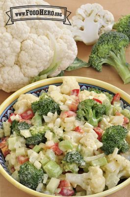 Cauliflower Salad - Healthy recipe for families. Food Hero #healthysalad #cauliflower