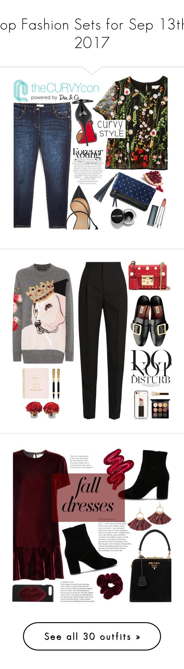 """""""Top Fashion Sets for Sep 13th, 2017"""" by polyvore ❤ liked on Polyvore featuring Christian Louboutin, Maybelline, Gucci, contestentry, TheCurvyCon, MyDiaStyle, Dolce&Gabbana, Yves Saint Laurent, Anja and The French Bee"""
