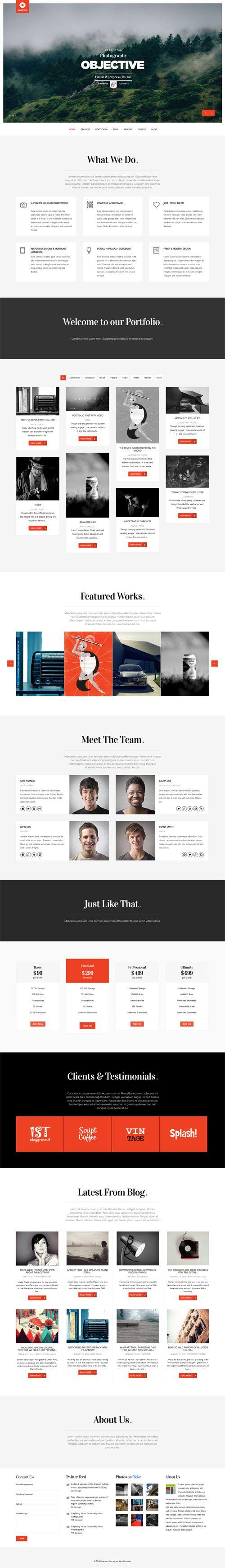 Objective - Responsive Portfolio Photography Theme #HTML5themes #responsivethemes #wordpressthemes