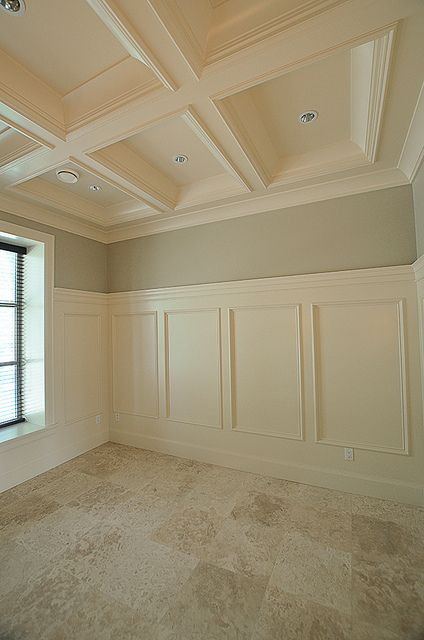 A classic ceiling molding design idea. | Home Office ...