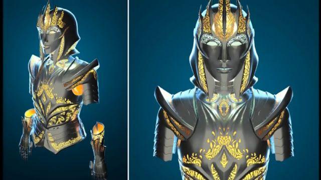 Bella armadura medieval diseñada para mujeres