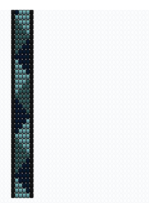 Triángulos teal Beading loom pattern Patrón telar More