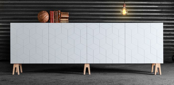 Ikea Cabinet with Fronts in Illusion with Trestle Legs by Superfront, Remodelista