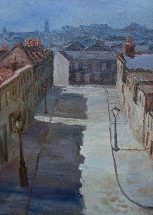The New & Old East London Groups - George Board, N E. Bethnal Green. Oil on canvas, 380 x 275