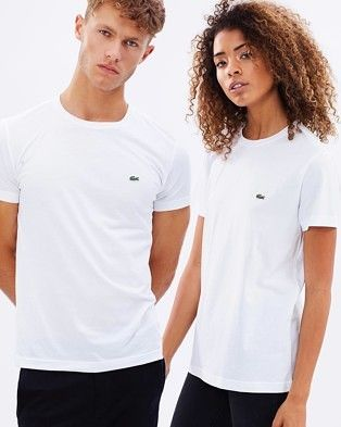 Buy Crew-Neck Cotton Pima Tee by Lacoste online at THE ICONIC. Free and fast delivery to Australia and New Zealand.