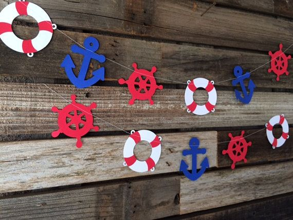 Guirnalda fiesta náutica náutica decoración por BlueOakCreations