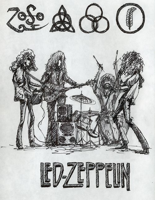 art Led Zeppelin robert plant Jimmy page John Bonham john paul ...