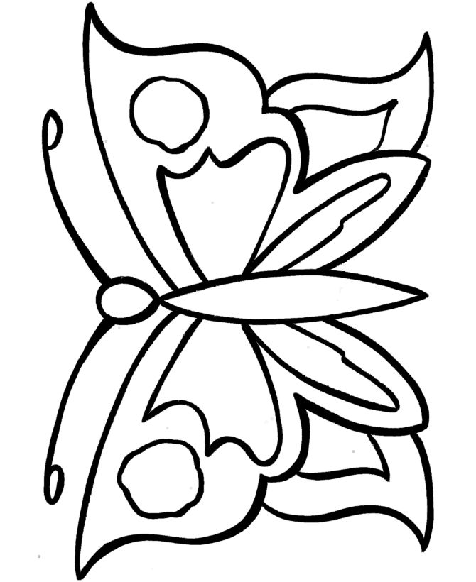 easy coloring pages free printable large butterfly easy coloring