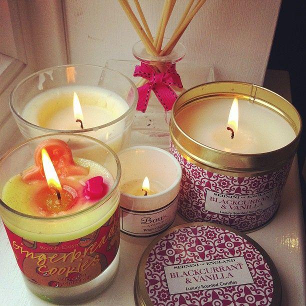 Candles in the salon creates a beautiful mood.
