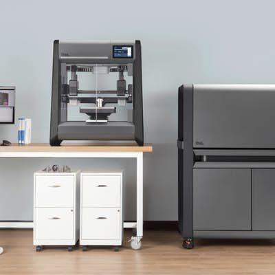 Desktop Metal Studio system: massively more affordable, office-safe and practical than an equivalent laser system