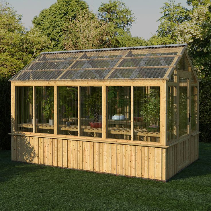 Perfect Polycarbonate Greenhouse Panels. See More. #shed #backyardshed #shedplans  OH, I Want To Build This One Day.
