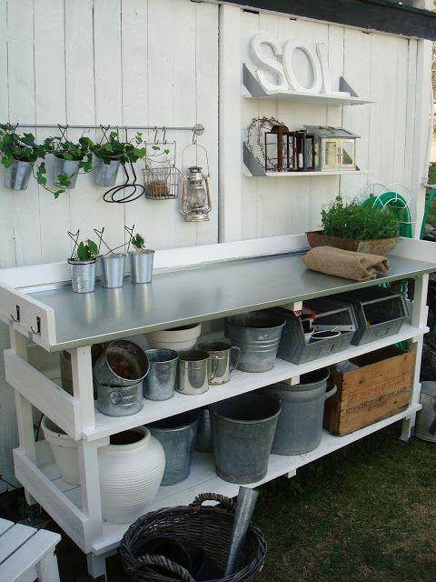 Jag Älskar VITT: Planteringsbord
