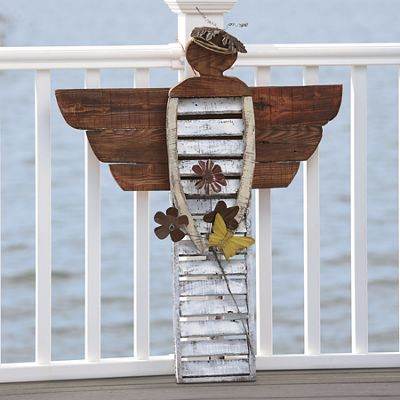 Shutter angel- outdoor decor