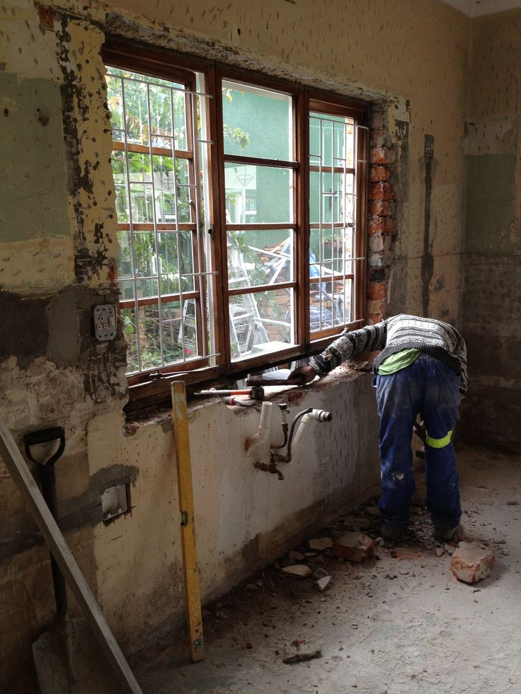 Gutted kitchen - nothing left!