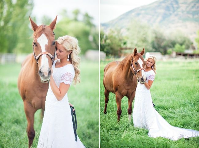 Utah Bridal Photos with a horse and on the Lake » Ravenberg Photography
