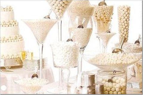 Vit godisbuffé på bröllopet!! Vilken idé!