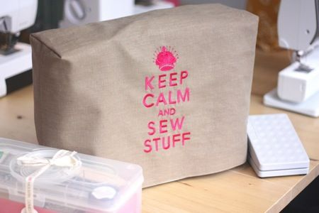 Keep Calm and Sew Stuff sewing machine cover or...?