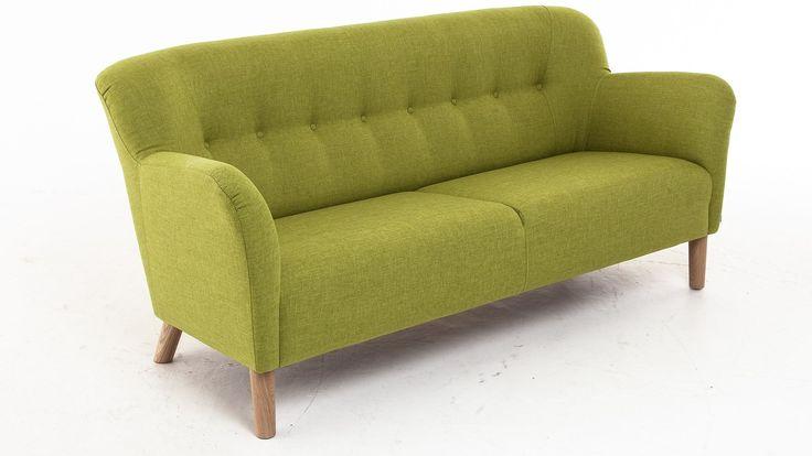 Limegrön Mustangen soffa i 50talsstil. 50tal, lime, grön, retro, träben, vardagsrum. http://sweef.se/soffor/97-mustangen-soffa-50-tal.html