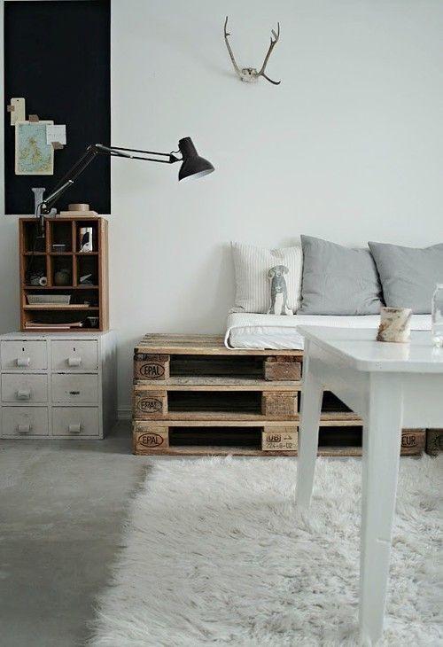 pallet - sofa - zitbank - woonkamer ♥