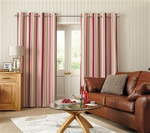 Buy Woven Stripe Eyelet Curtains from the Next UK online shop