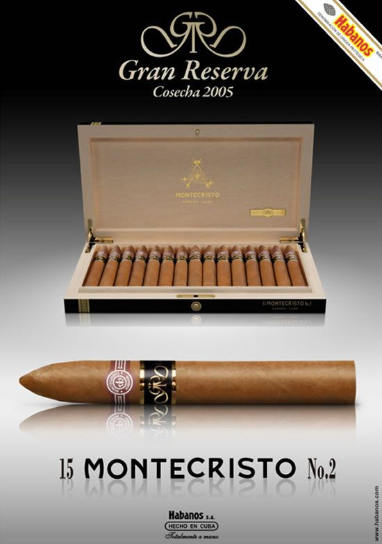 Montecristo No. 2 Gran Reserva cigars use 5-year-old aged Cuban tobacco leaves