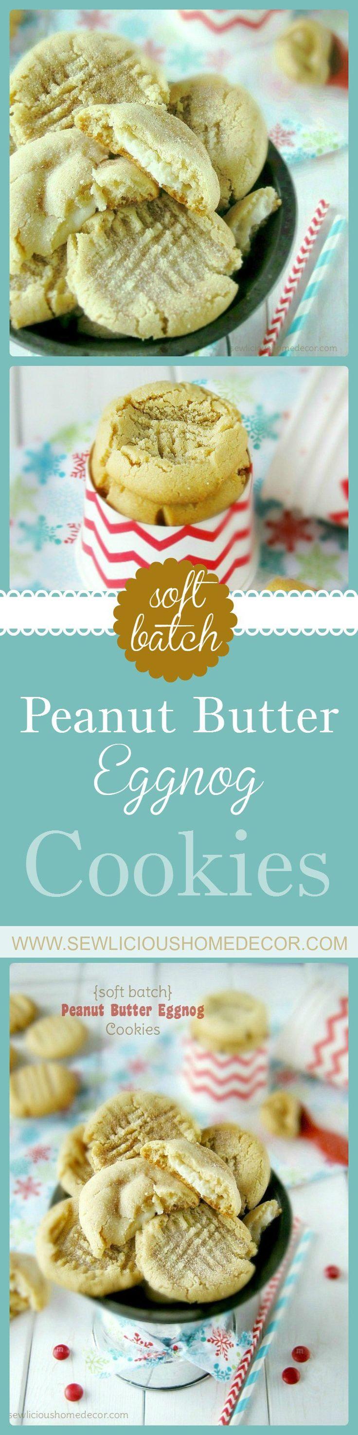 peanut butter and eggnog cookies at sewlicioushomedecor.com