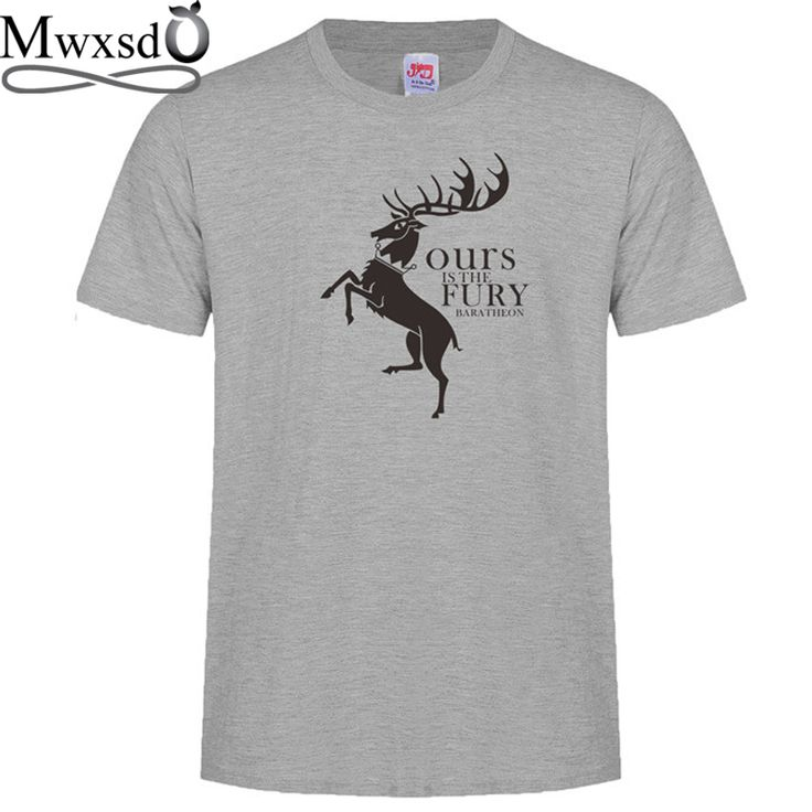 Mwxsd brand Men's deer printed T Shirt men O neck cotton T-shirts male summer top social tees customize t shirt #Affiliate