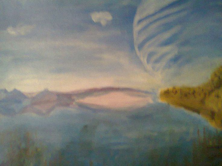 This one is in acrylic too, and I wanted to give the idea of some outer space planet. Not in my favorite list though.