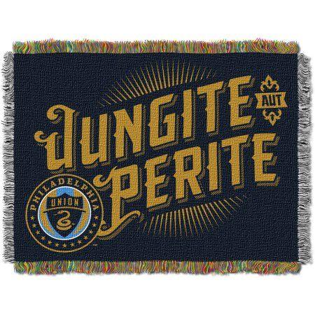 MLS Philadelphia Union Handmade 48 inch x 60 inch Woven Tapestry Throw, Multicolor