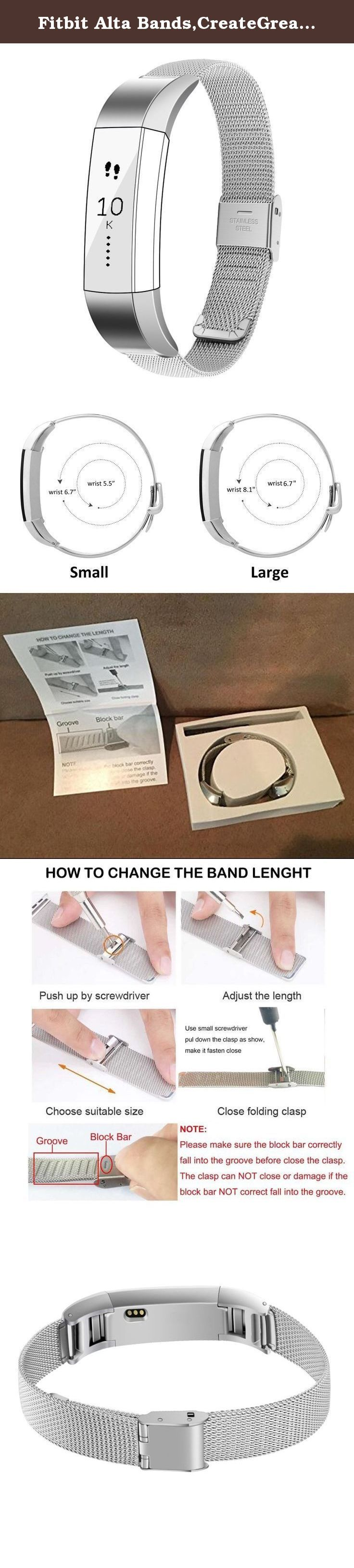 Fitbit Alta Bands,CreateGreat Replacement Accessory Bracelet Band For Fitbit Alta Wristbands/Fitbit Alta Bands/Fitbit Alta. for fitbit alta /fitbit alta bands /alta bands /fitbit bands /fit bit alta /fitbit alta replacement bands /fitbit alta wristbands /fitbit alta bracelet /fitbit accessories /fitbit watch /alta /fitbit alta small bands /fitbit alta gold /fitbit alta accessory bands /fitbit alta metal band /fitbit alta metal bracelet /fitbit wristband /fitbit replacement /fitbit rose…