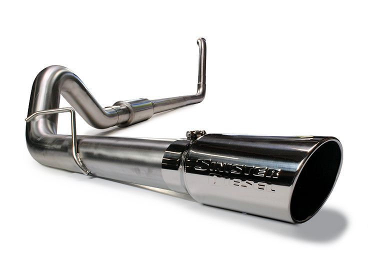 "Sinister Diesel 4"" Stainless Steel Exhaust Ford Excursion Powerstroke 6.0L 2003-2005"