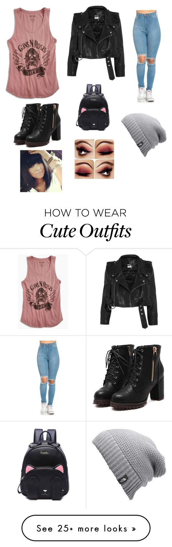 """Cute Hipster outfit"" by abbyterra on Polyvore featuring Lucky Brand, Vetements and The North Face"