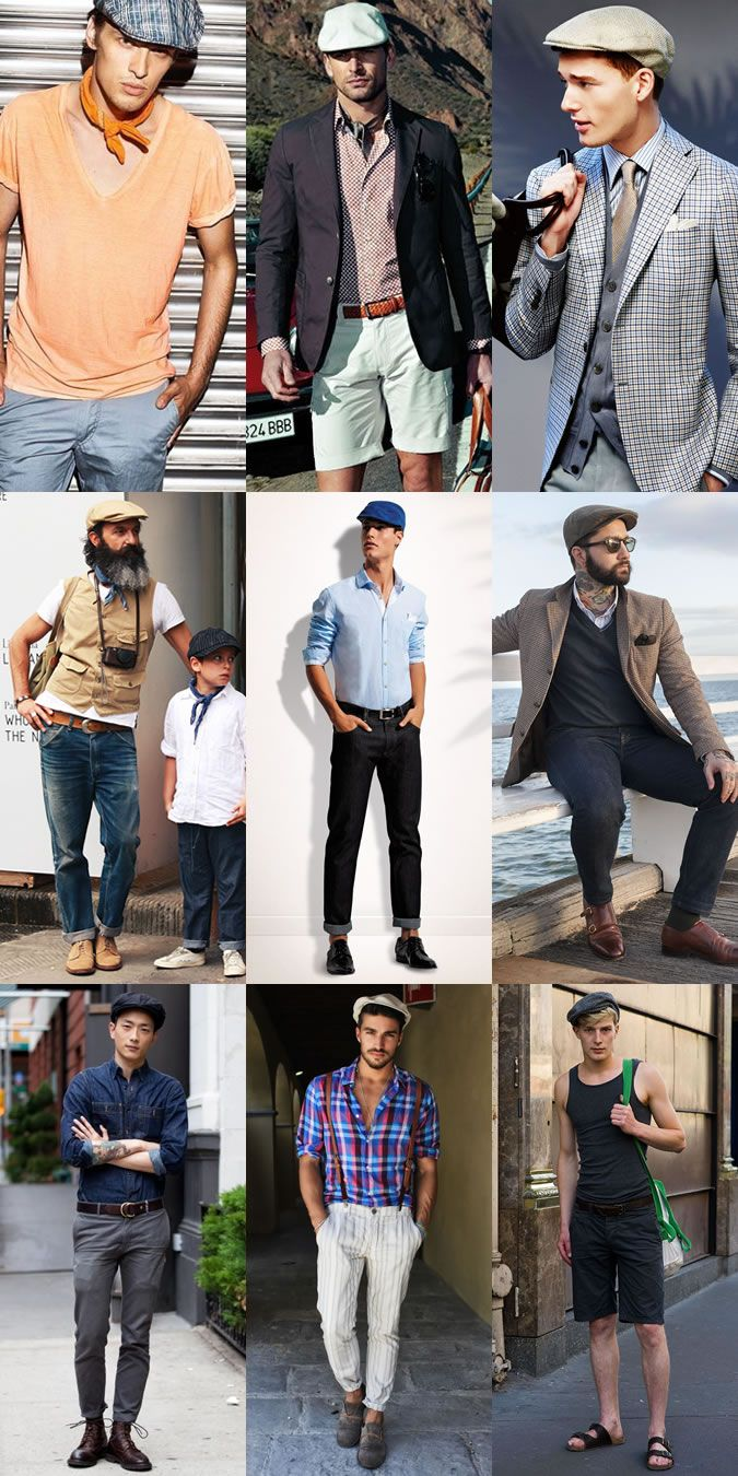 2014 Men's Summer Hats: The Lightweight Flat Cap/Driver's Cap Lookbook Inspiration