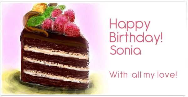 Latest 100 Happy Birthday Sonia Wishes Cake Images Wallpaper
