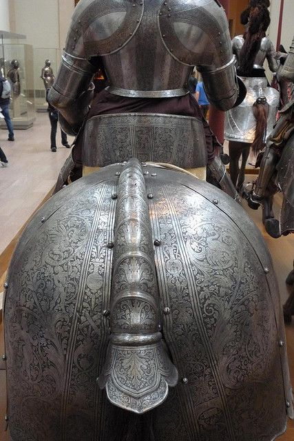 Plate Armour Of Horse And The Knight In Its Saddle From