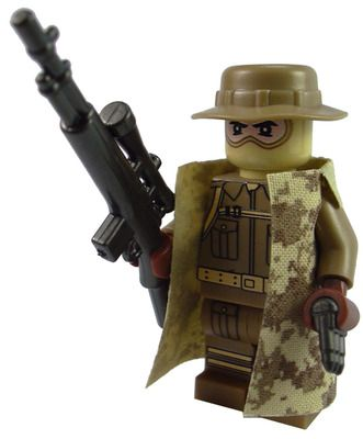 Custom LEGO Military Soldier Minifigure Model Soldiers US Modern Combat Camouflaged Mountain Sniper
