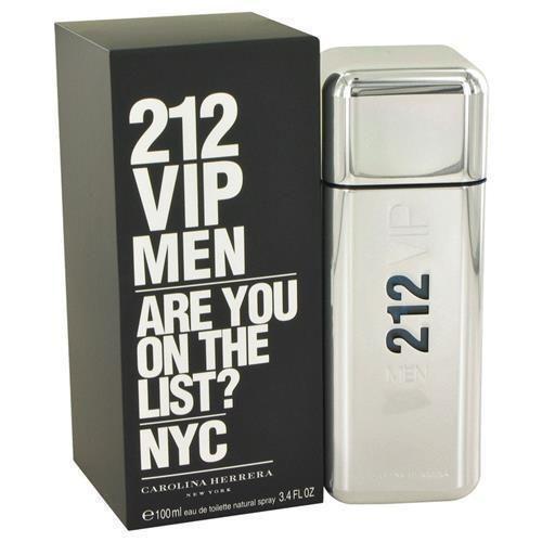 212 Vip by Carolina Herrera Eau De Toilette Spray 3.4 oz Cologne for Men Gift #CarolinaHerrera