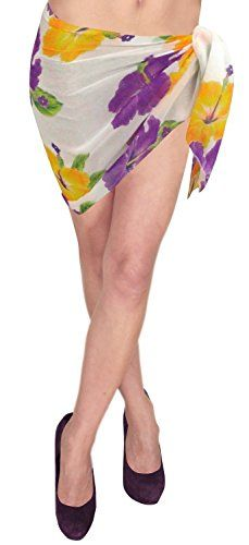 Soft Mini / Short Sarong Pareo Wrap Bikini SKIRT Sarong Swimsuit Beachwear Pool. Do YOU want SARONG in other colors Like Red ; Pink ; Orange ; Violet ; Purple ; Yellow ; Green ; Turquoise ; Blue ; Teal ; Black ; Grey ; White ; Maroon ; Brown ; Mustard ; Navy ,Please click on BRAND NAME LA LEELA above TITLE OR Search for �LA LEELA� in Search Bar of Amazon. Breathy fabric feels like silk, easy to wash. It doesn�t run, fade or shrink. Enjoy Your Beach Party With Great Feel, Light Weight & dries…
