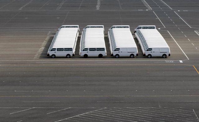 Nissan Motor Co vehicles are parked at the company's factory in Yokosuka, south of Tokyo, Japan, in this November 4, 2009 file photo. (Photo by Toru Hanai/Reuters) | www.ghantagiri.com #ghantagiri