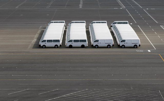 Nissan Motor Co vehicles are parked at the company's factory in Yokosuka, south of Tokyo, Japan, in this November 4, 2009 file photo. (Photo by Toru Hanai/Reuters) | www.ghantagiri.com #ghantagiri