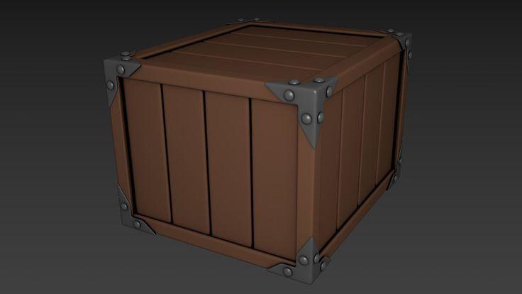 Medival Crate, Henning Lande on ArtStation at https://www.artstation.com/artwork/medival-crate