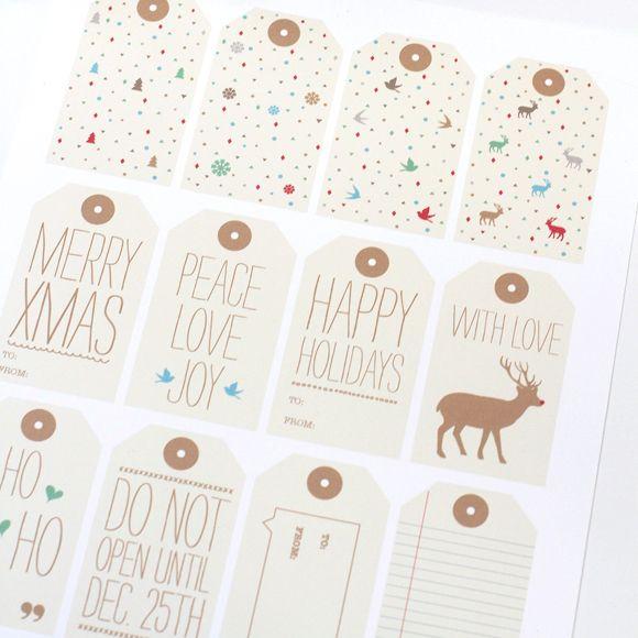 Holiday Gift Tags Free Printables