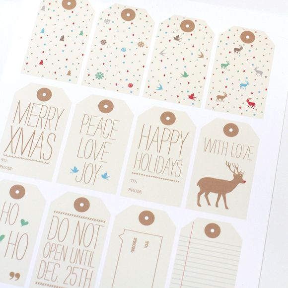FREE Printable Holiday Gift Tags from Love vs Design