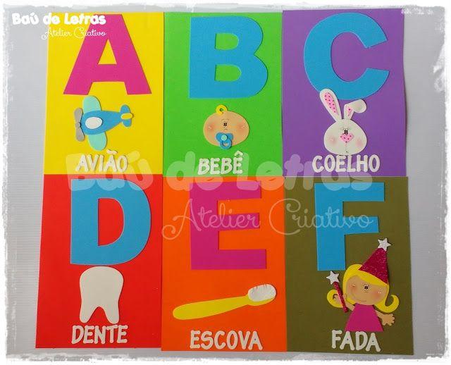 Bau De Letras E V A E Scrapbook Sala De Aula Alfabeto De