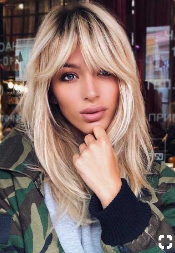 Pin By Kris Marie On Bangs Hair Styles Long Hair Styles Oblong Face Hairstyles