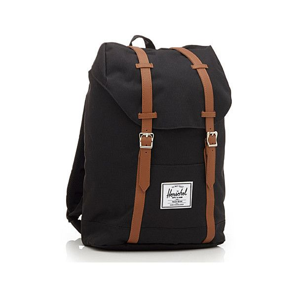 Herschel Retreat Herschel backpack ($58) ❤ liked on Polyvore featuring bags, backpacks, drawstring backpack, canvas backpack, herschel, day pack backpack and canvas laptop backpack