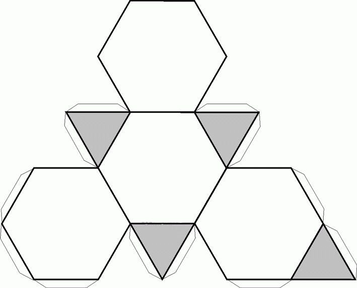Figuras de poli para armar de geometria - Imagui
